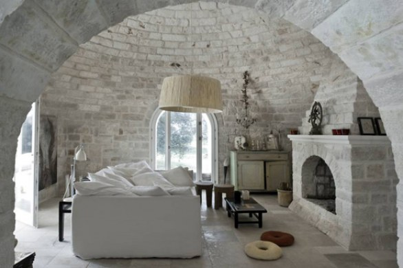 interior design moderno in un trullo pugliese. Black Bedroom Furniture Sets. Home Design Ideas