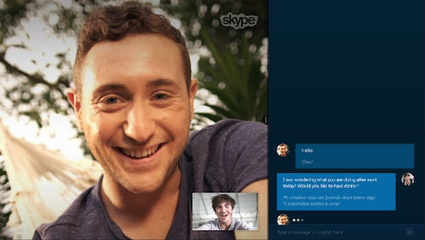 skype translator preview italiano