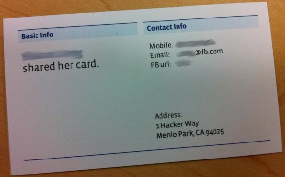 Proper Way to Reference a Facebook Page on a Business Card