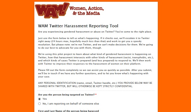 Twitter Harassment Reporting