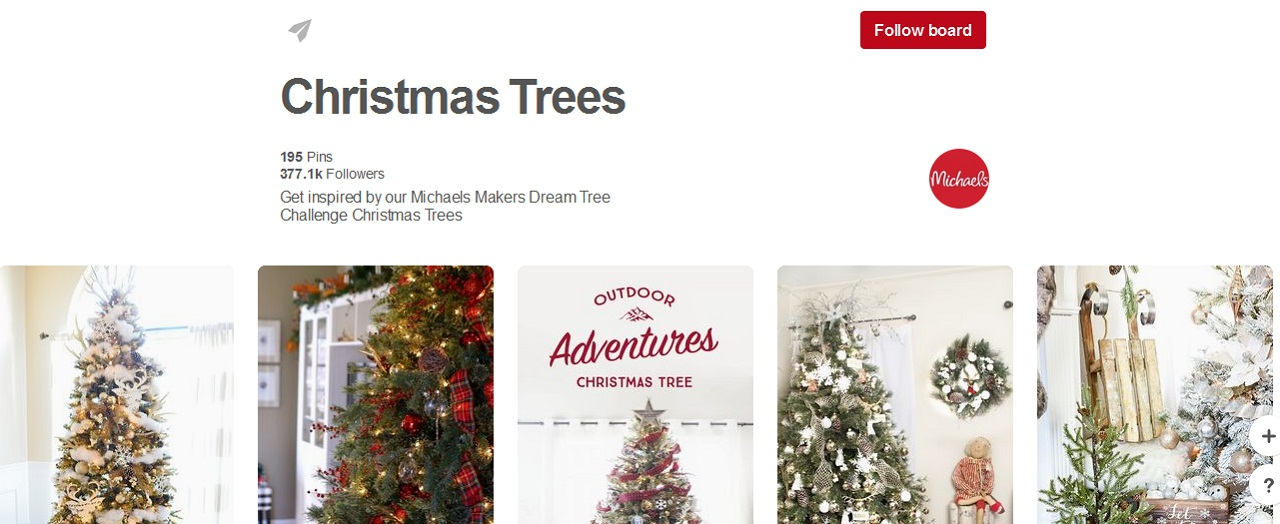 Pinterest alberi di natale bacheche for Christmas trees at michaels craft store