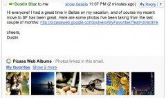 vedere foto e video in gmail