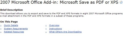 add-in pdf office 2007 Microsoft