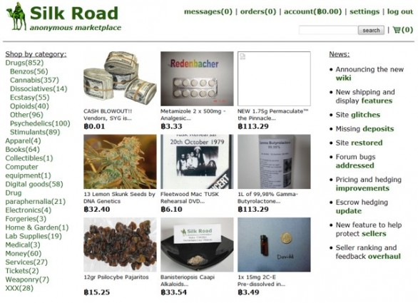 Screenshot di Silk Road