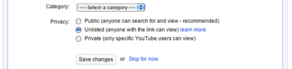 """YouTube introduce i video """"unlisted"""""""