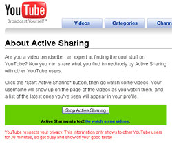 YouTube Active Sharing