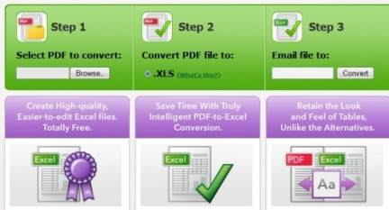 Convertire file pdf in Word ed Excel online