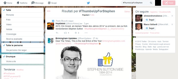 Twitter Stephen Sutton