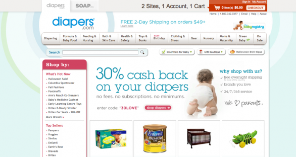 Amazon acquista Diapers.com