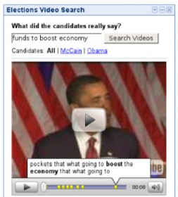 gadget iGoogle Election Video Search