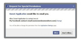 Facebook Apps E-Mail
