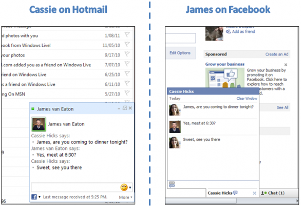 Facebook Chat - Windows Live Hotmail