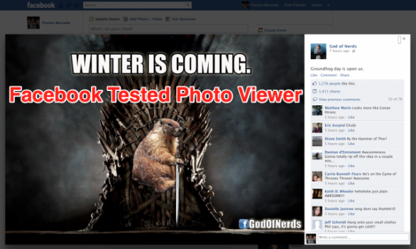 facebook e google+ photo viewer