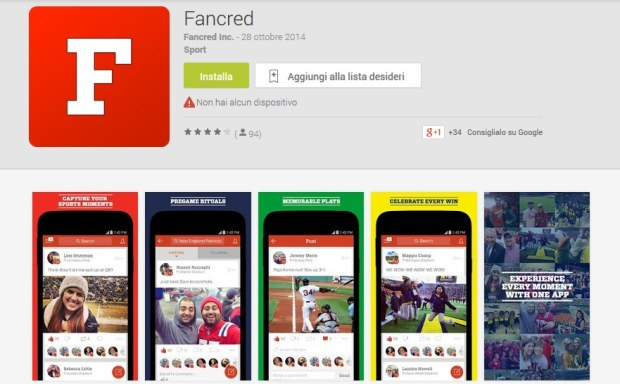 Fancred per Android