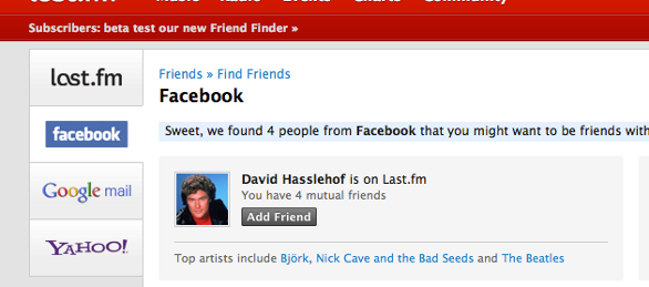 Find Your Friend on Last.fm