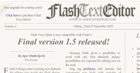 Flash text editor: editing del testo online con Flash 8