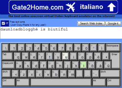Gate2home, online keyboard layout
