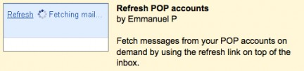 Refresh POP account in Gmail