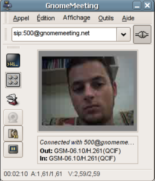 gnomemeeting con sip video chat