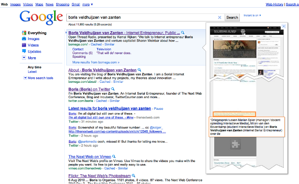 Google Full Page Previews