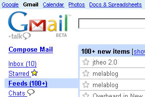 Integrare google reader in gmail - greasemonkey extension script