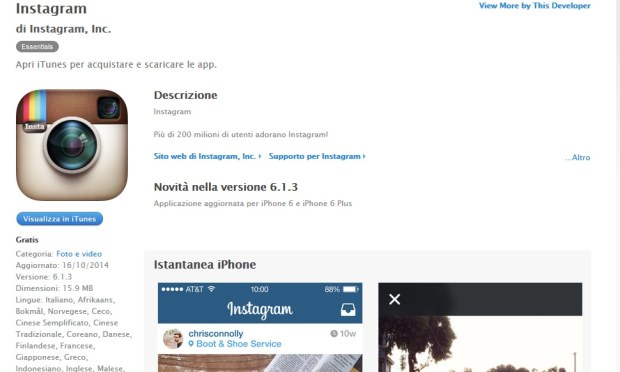 Instagram per iOS