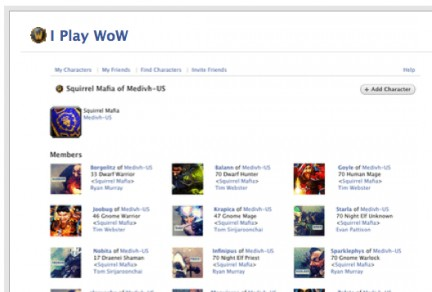 I Play WoW: applicazione per FaceBook per maniaci di World Of Warcraft