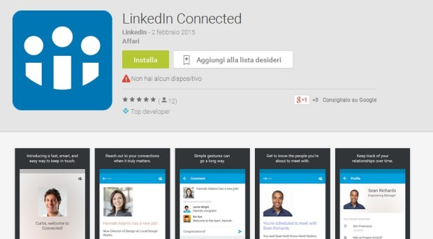 LinkedIn Connected per Android