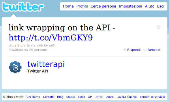 Link Wrapping On The API