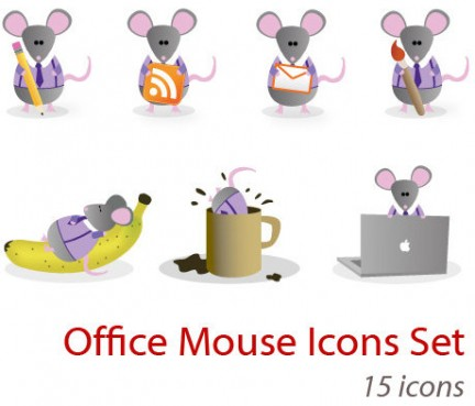 Set di icone Office Mouse