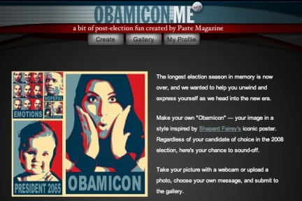 "Obamicon.me: la propria foto in stile ""Obama"""