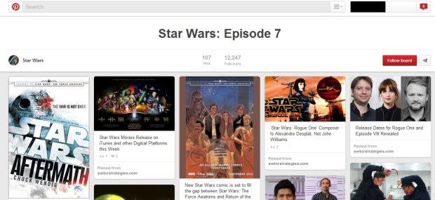 Bacheca Pinterest di Star Wars