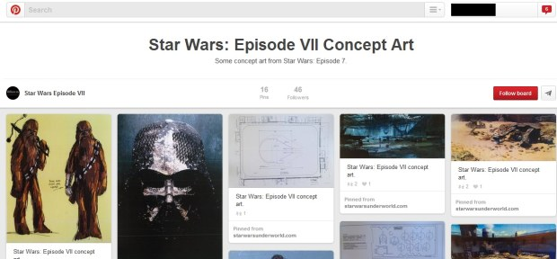 Bacheca Pinterest di Star Wars Episode VII