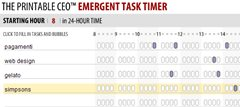 Printable CEO in flash -  emergent task timer