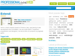 Professional on the web - il vostro portfolio online