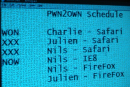 PWN2OWN 2010: cadono Safari, Firefox e Internet Explorer 8, Chrome ancora da testare