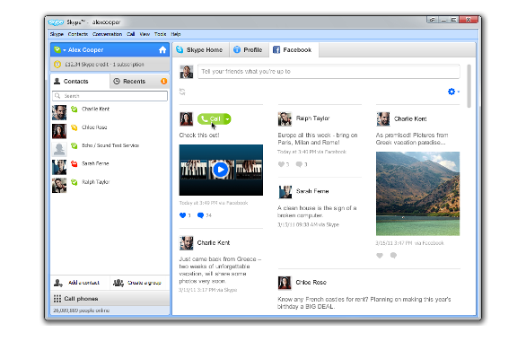 Skype for Windows - Facebook