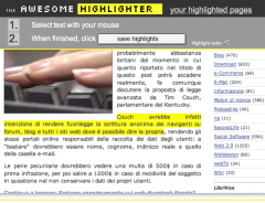 he Awesome Highlighter evidenzia testo in una pagina web