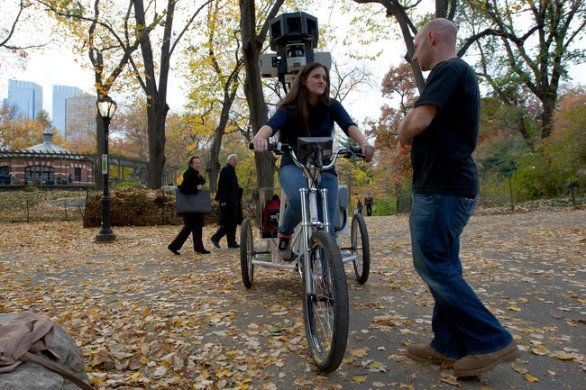Google Street View in triciclo per Central Park