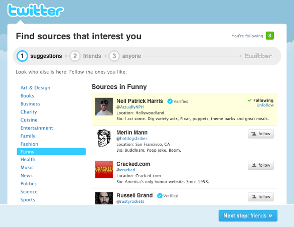 Twitter Suggestions