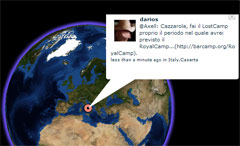 Twittervision in 3d