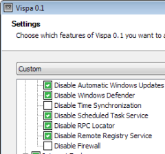 Vispa, tweak per Windows Vista