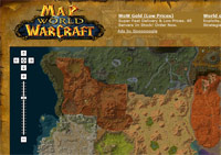 Mappe realizzate grazie a Google Maps per World of Warcraft