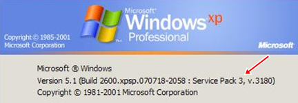 Windows XP sp3 e Vista sp1