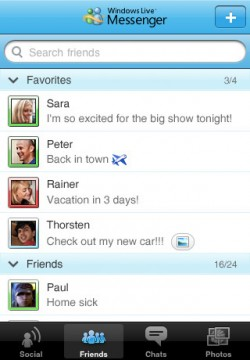 Windows Live Messenger ufficiale arriva su iPhone