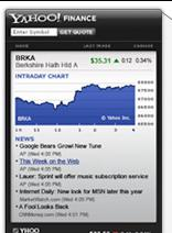 Yahoo! Finance Widget