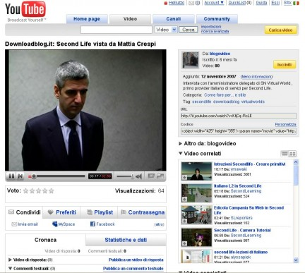 Nuova interfaccia YouTube