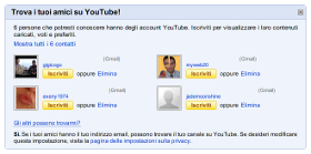 YouTube - Google Contacts