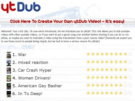 ytDub: dub via web dei video Youtube
