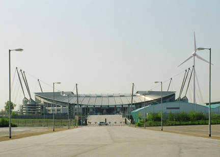Stadio Manchester City eolico